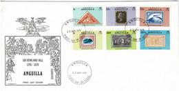 Anguilla 1979 Sir Rowland Hill Centenary FDC - Anguilla (1968-...)