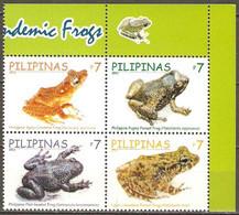 Philippines 2011 MiNr. 4599 - 4606 Philippinen Frogs 4v MNH** 2,00 € - Rane
