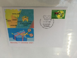 (5 A 14) New South Wales End Of LOCKDOWN - Freedom Day (3) - 11- October 2021 - With OZ Stamp - Disease