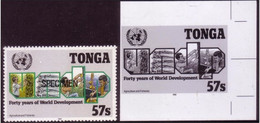 Tonga 1990 - UN Food Aid To Islanders - Proof + Specimen  - Details In Item Description - ONU