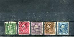 Etats-Unis 1908-09 Yt 167-171 Série Courante - Used Stamps