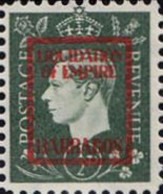 BARBADOS 1940s WWII George VI ½d FORGERY:overprint Germany-related Judaica Faux De Propagande Porpaganda - Barbados (...-1966)