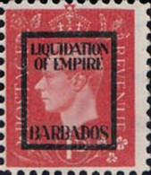 BARBADOS 1940s WWII George VI 1d FORGERY:overprint Germany-related Faux De Propagande Propaganda - Barbados (...-1966)