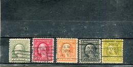 Etats-Unis 1916-19 Yt 199-200 204-206 - Used Stamps