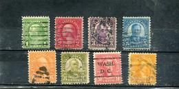 Etats-Unis 1922-25 Yt 228-230 232-233 235-237 Série Courante - Used Stamps