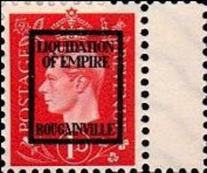 BOUGAINVILLE 1940s WWII George VI Reddich 1d FORGERY:overprint Faux De Propagande Propaganda - Other
