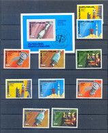 CENTRAL AFRICA SETS SPACE + BLOCK   SPACE MNH - Non Classificati