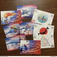 JAPAN 2021 *** TOKYO 2020 OLYMPIC GAMES POSTCARDS OLYMPICS VOLLYBALL, RUNNING, BASKETBALL, FOOTBALL (**) - Altri