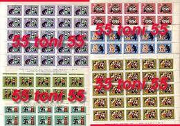 1964 Bulgarian Popular-folk Tales 6v.-MNH 6 Sheet (5x5 = 25 Set) Bulgaria / Bulgarie - Ungebraucht