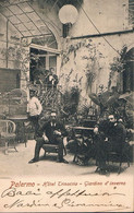 B4938 - Palermo, Hotel Trinacria, Giardino D'inverno, Viaggiata 1902 ? - Palermo
