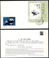 1985 China FDC T106MS S/S Giant Panda - 1980-1989
