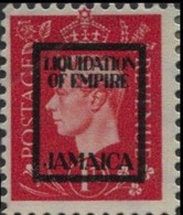JAMAICA 1940s WWII George VI 1d FORGERY:overprint Germany-related Judaica Faux De Propagande Propaganda - Jamaica (...-1961)