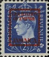 JAMAICA 1940s WWII George VI 2½d FORGERY:overprint Germany-related Faux De Propagande Propaganda - Jamaica (...-1961)