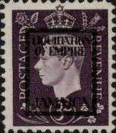 JAMAICA 1940s WWII George VI 3d FORGERY:overprint Germany-related Faux De Propagande Propaganda - Seconda Guerra Mondiale