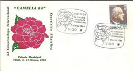 MATASELLOS 1984 VIGO   CAMELIA - 1981-90 Storia Postale