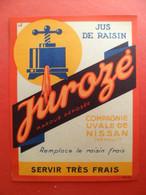 Etiquette Fruit Jus De Raisin JUROSé - Compagnie UVALE De NISSAN Hérault - Servir Très Frais - Pressoir - Fruits & Vegetables