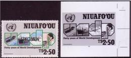 Tonga Niuafo'ou 1990 - UN Aid For Telecommunications - Proof + Specimen - ONU