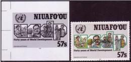 Tonga Niuafo'ou 1990 - UN Food Aid To Islanders - Proof + Specimen - ONU