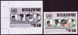 Tonga Niuafoo'u 1990 - Shows Doctor, Dentist And Nurse - Proof + Specimen - Medicina