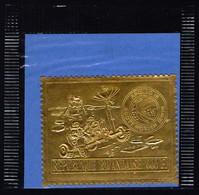 RWANDA  -APOLLO  15  GOLD  STAMPS - **MNH - 1972 - Africa