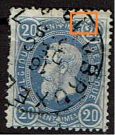 31  Obl  BXL  LV 5  Griffe Devant 2 - 1869-1888 Lion Couché