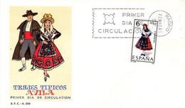[E0040] España 1967, FDC Trajes Típicos: Avila (NS) - FDC