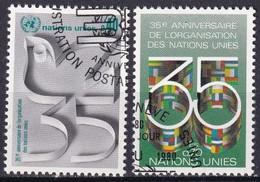 UNO GENF 1980 Mi-Nr. 92/93 O Used - Aus Abo - Gebraucht