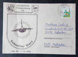 """Brief Luftwaffen Transportübung Mit Feldpostversorgung, """"Schneller Start"""" 02.-11.10.1990 - Militaria"""