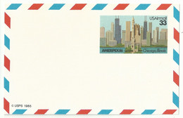 Entier Carte Postale - Exposition Ameripex 86 - Chicago - Gratte-ciel - Altri