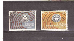 1972 UNIONE INTERPARLAMENTARE 2 VALORI - 1971-80: Storia Postale