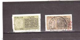 1972 CAPACITA' CONTRIBUTIVA 2 VALORI - 1971-80: Storia Postale