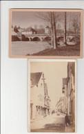 2 PHOTO CARTONNÉE (16x11cm) BAR SUR SEINE (10) GRANDE RUE ANIMÉE,PONT DE VILLENEUVE - Altri