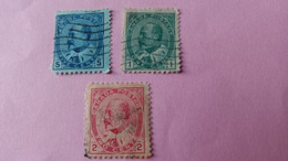 CANADA : Lot De 3 Timbres 1903 - Portrait Du Roi Edouard VII - Used Stamps