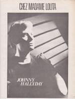 Johnny Hallyday Partition Chez Madame Lolita 1980 - Non Classificati