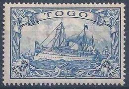 Kaiserjacht 17, 2 Mark Stahlblau *         1900 - Kolonie: Togo