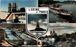 N°18858 Z -cpsm La Seine à Paris -multivues- - Die Seine Und Ihre Ufer