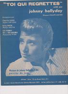 Johnny Hallyday Partition Toi Qui Regrettes 1962 - Non Classificati