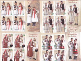 Romania 2020 / Folk Wedding Clothing II / Set 4 MS,NATIONAL COSTUMES,MNH. - Costumi