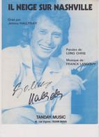 Johnny Hallyday Partition Il Neige Sur Nashville 1977 - Non Classificati