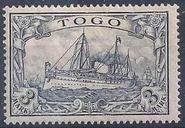 Kaiserjacht 18, 3 Mark Schwarzviolett *         1900 - Kolonie: Togo