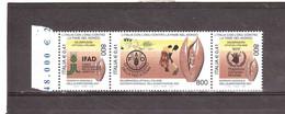 2001 IFAD , FAO , WFP GIORNATA MONDIADELL'ALIMENTAZIONE 3 VALORI - Blocchi & Foglietti