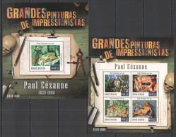 ST953 2015 GUINE GUINEA-BISSAU ART PAINTINGS GRANDES PINTURAS PAUL CEZANNE KB+BL MNH - Altri