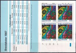 DÄNEMARK 1987 Mi-Nr. MH 10x 892 Markenheft/booklet Mit Zählnummer ** MNH - Markenheftchen