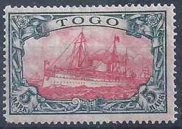 Kaiserjacht 23B, 5 Mark Grünschwarz/rot *         1919 - Kolonie: Togo