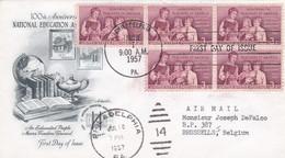 États-Unis FDC 1957 631 Centenaire Association Nationale De L'éducation Enseignate Et élèves Oblitération Philadelphia - 1951-1960