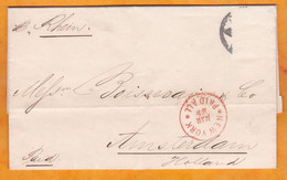 29th March 1873 - Folded Letter From New York City To Amsterdam, The Netherlands Per Ship RHEIN - Postal History