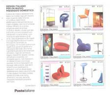 2001 DESIGN ITALIANO FOGLIETTO - Blocchi & Foglietti