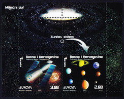 BOSNA & H. - BOSNIA FEDERATION - EUROPA CEPT  BL+SET - ASTRONOMY  HUBBLE - **MNH - 2009 - Astronomia