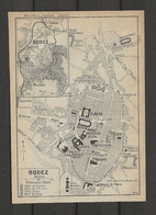 CARTE PLAN 1914 - RODEZ - HARAS - CANAC - HOTEL BINAY - HOTEL BROUSSY - HOTEL DE L'UNIVERS - HOTEL De FRANCE - Carte Topografiche