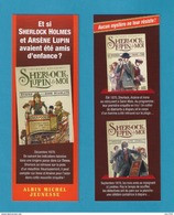 Marque Page.   Sherlock Holmes Et Arsène Lupin.   Albin Michel Jeunesse.   Bookmark. - Segnalibri